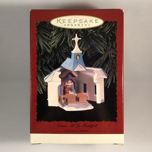 NEW Hallmark Church Ornament 1996